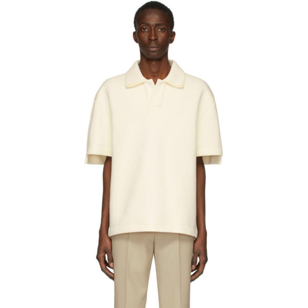 メゾン マルジェラ Maison Margiela メンズ ポロシャツ トップス【Off-White Scuba Pique Polo】Off-white