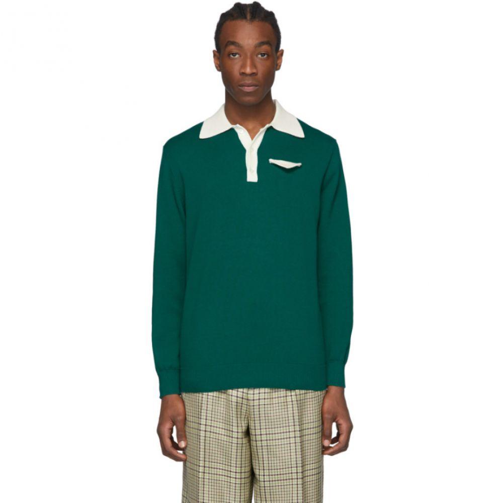 カサブランカ Casablanca メンズ ポロシャツ トップス【Green Knit Polo】Green