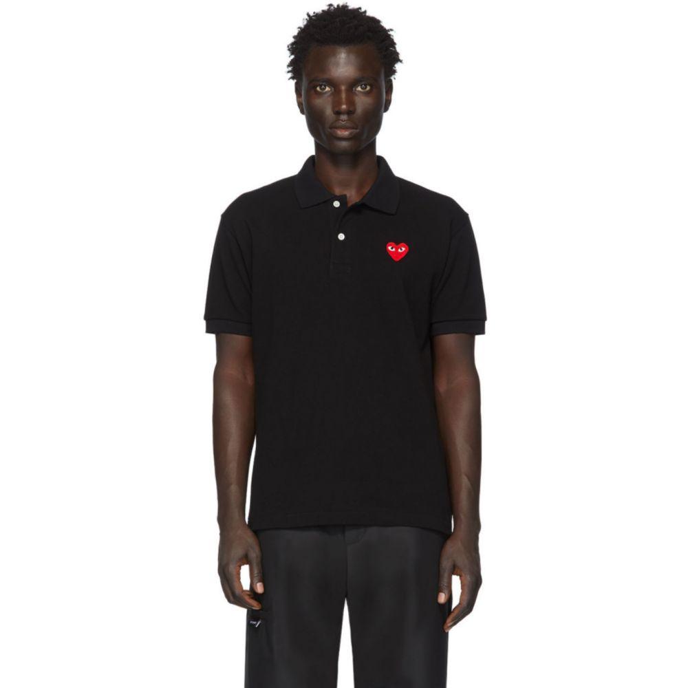 コム デ ギャルソン Comme des Garcons Play メンズ ポロシャツ トップス【Black Heart Patch Polo】Black