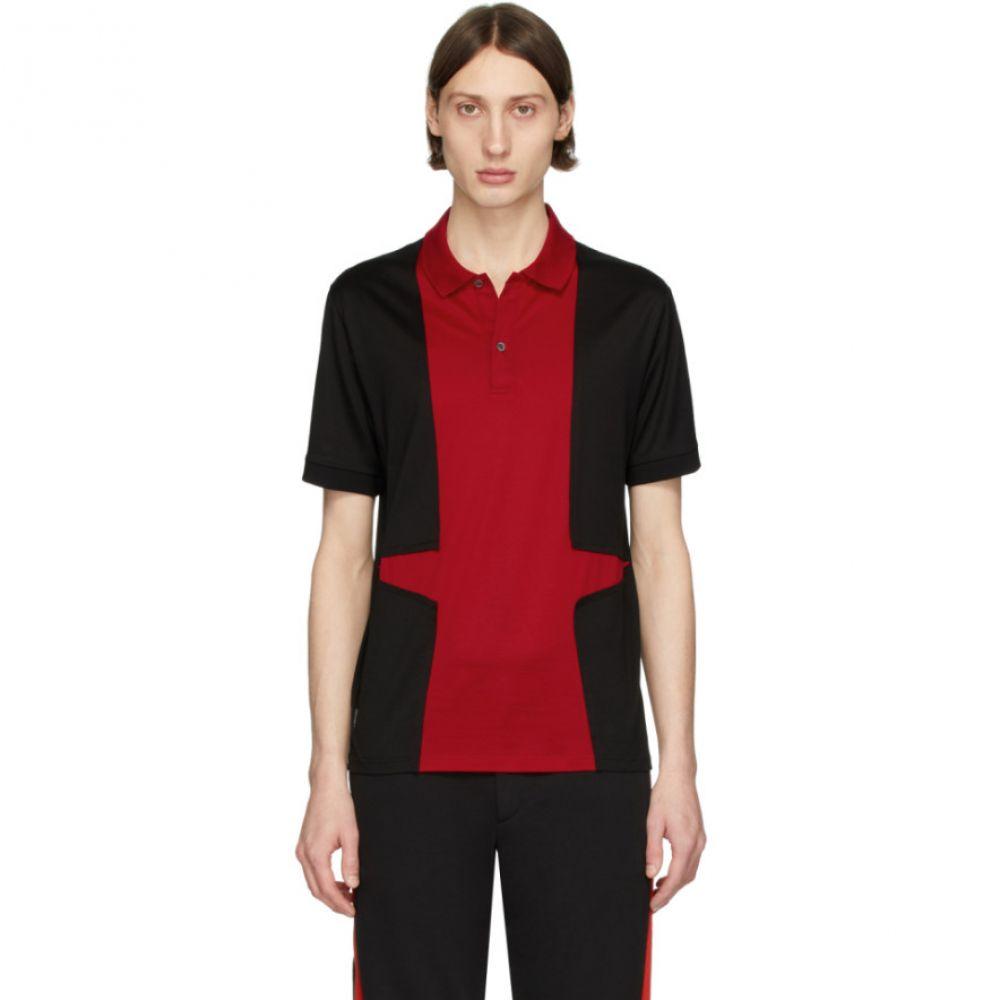 アレキサンダー マックイーン Alexander McQueen メンズ ポロシャツ トップス【Black & Red Panelled Polo】Black/Red