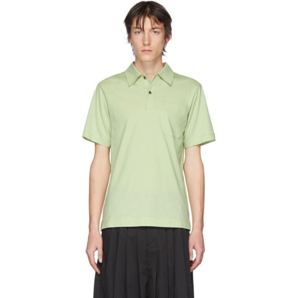 ドリス ヴァン ノッテン Dries Van Noten メンズ ポロシャツ トップス【Green Pocket Polo】Mint