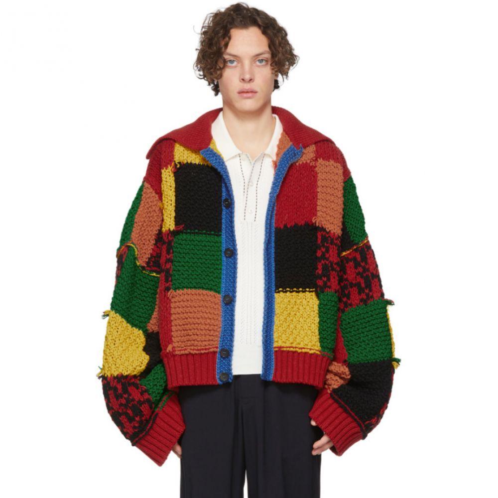 J.W.アンダーソン JW Anderson メンズ カーディガン トップス【Multicolor Colorblock Patchwork Cardigan】Multicolor