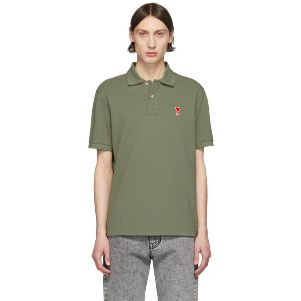アミアレクサンドルマテュッシ AMI Alexandre Mattiussi メンズ ポロシャツ トップス【Green Ami De Coeur Polo】Sage