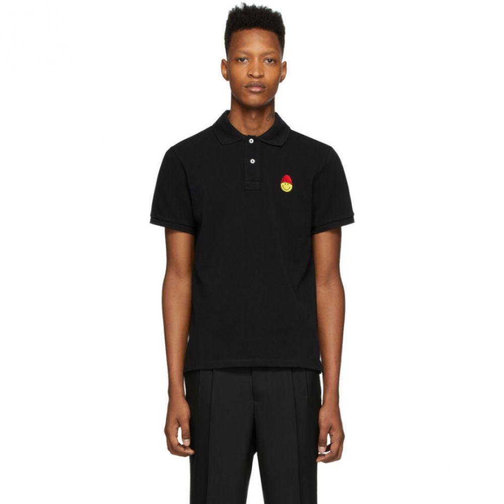 アミアレクサンドルマテュッシ AMI Alexandre Mattiussi メンズ ポロシャツ トップス【Black Smiley Polo】Black