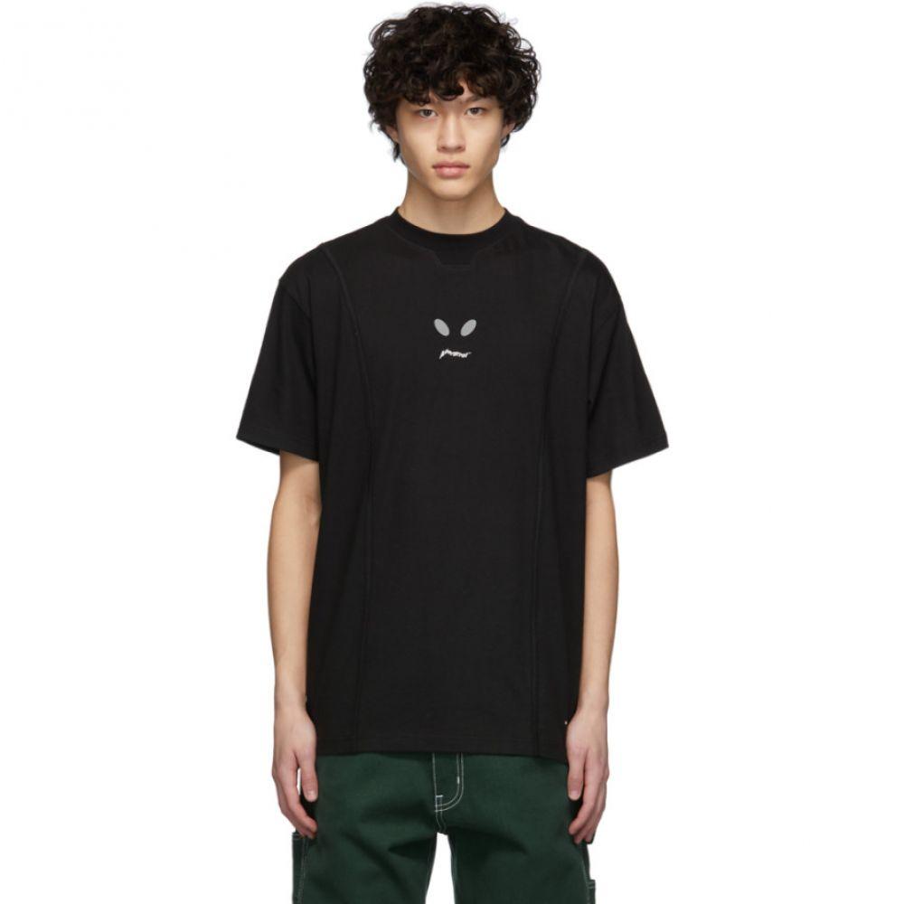 アーダーエラー ADER error メンズ Tシャツ トップス【Black Piyolo T-Shirt】Black