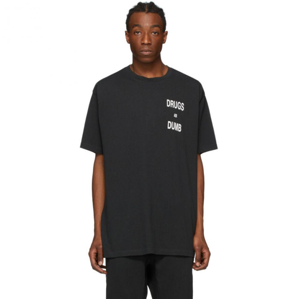スビ Ksubi メンズ Tシャツ トップス【Black 'Drugs Aer Dumb' T-Shirt】Tru black