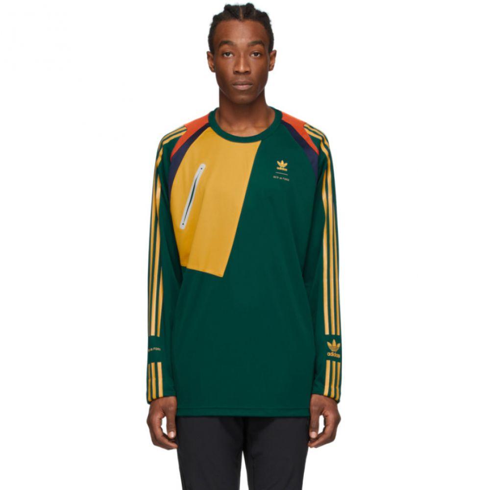 ベッドフォード BED J.W. FORD メンズ Tシャツ トップス【Green adidas Originals Edition Game Jersey T-Shirt】Rich green