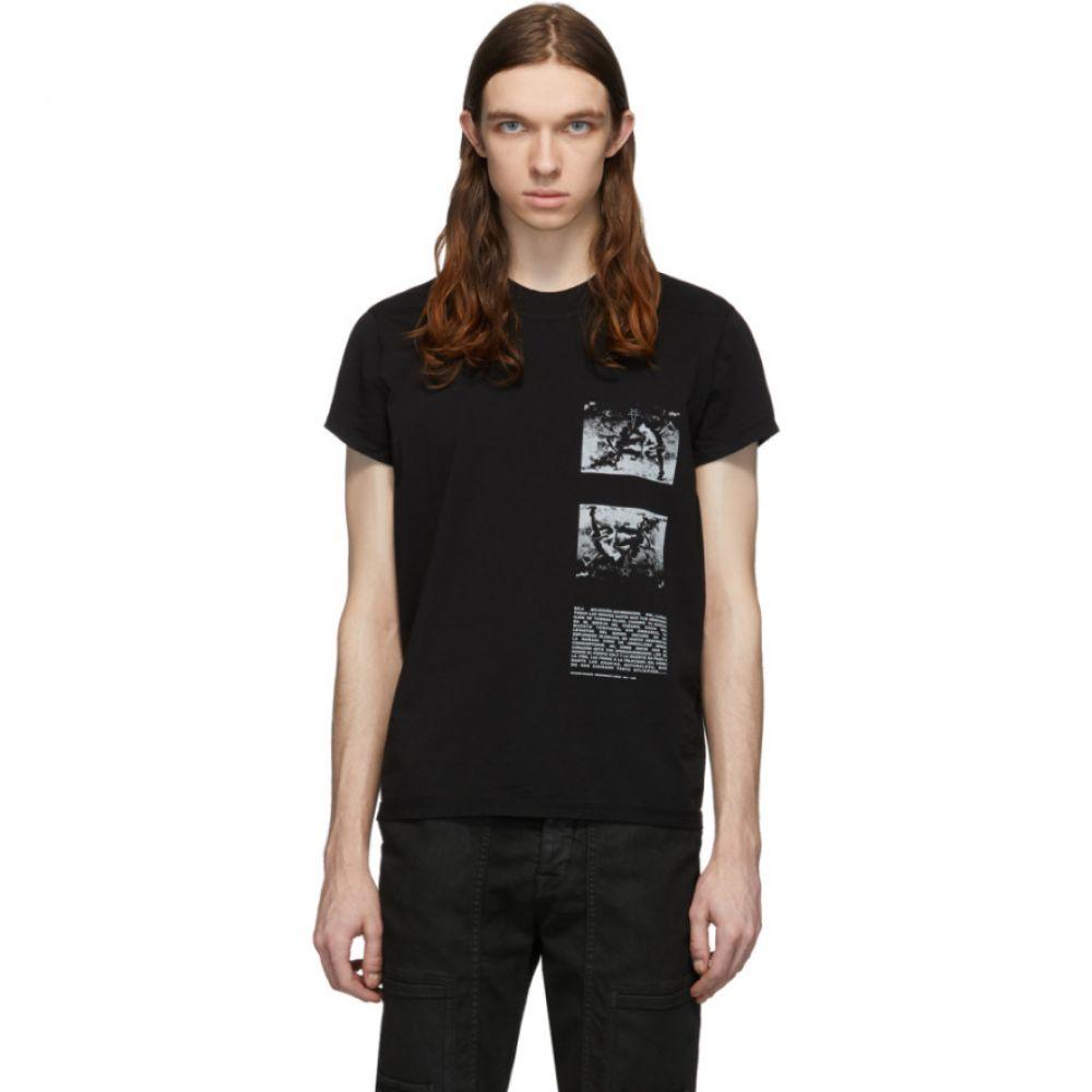 リック オウエンス Rick Owens Drkshdw メンズ Tシャツ トップス【Black Level Wagner T-Shirt】Black/Pearl