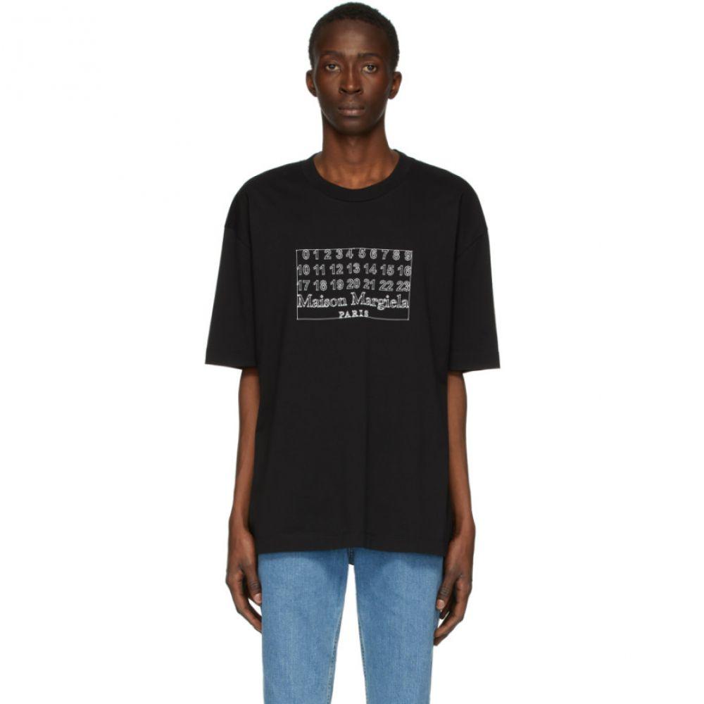 メゾン マルジェラ Maison Margiela メンズ Tシャツ トップス【Black Number Logo T-Shirt】Black