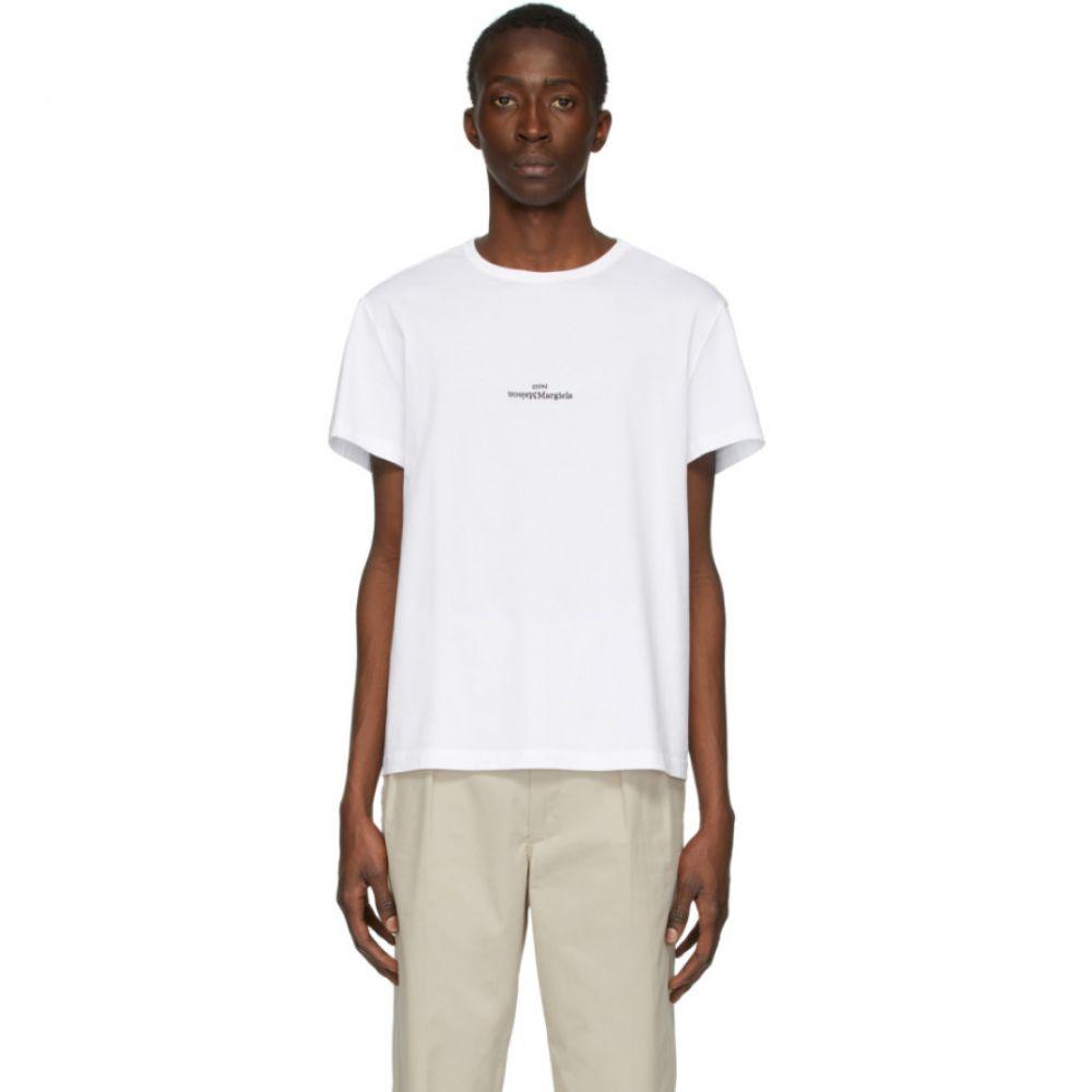メゾン マルジェラ Maison Margiela メンズ Tシャツ トップス【White Logo T-Shirt】White