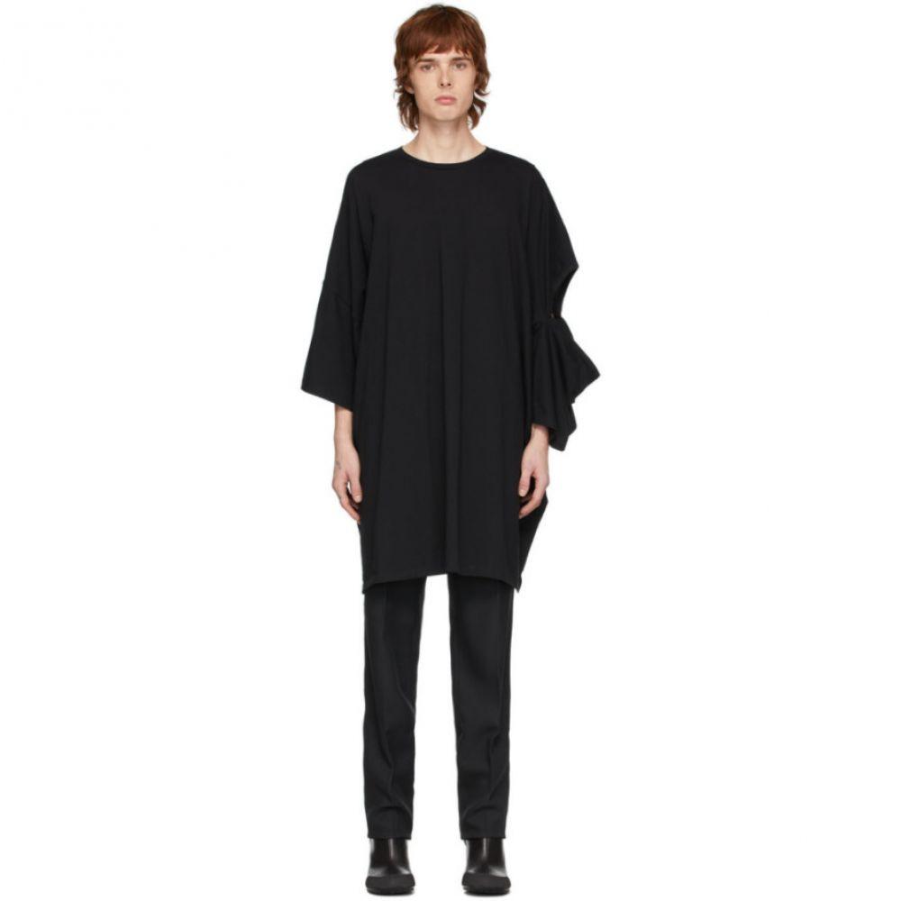 ランダム アイデンティティーズ Random Identities メンズ Tシャツ トップス【Black Oversized Cut-Out T-Shirt】Black beat
