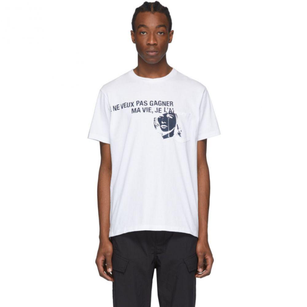 エンジニアードガーメンツ Engineered Garments メンズ Tシャツ トップス【White Printed Cross Crewneck T-Shirt】White
