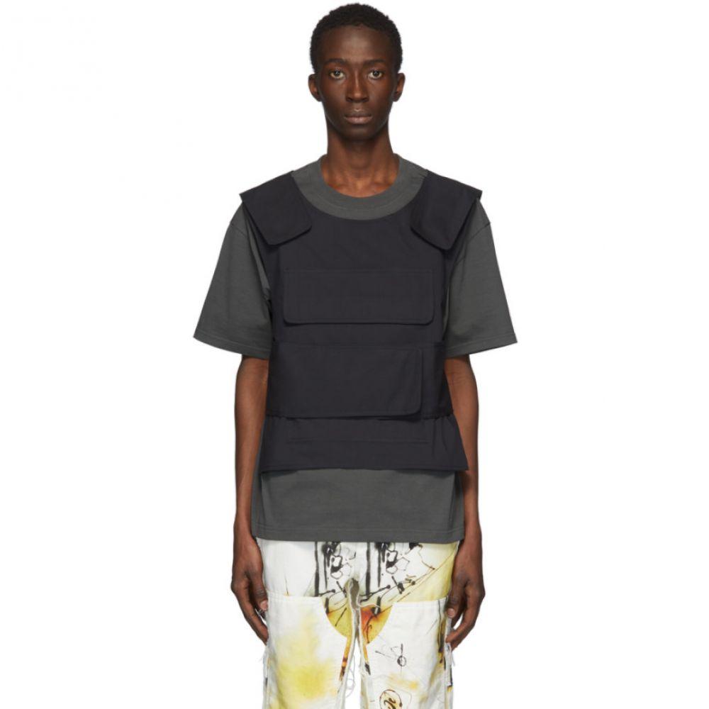 サンクアンズ Sankuanz メンズ Tシャツ トップス【SSENSE Exclusive Green Harness T-Shirt】Olive