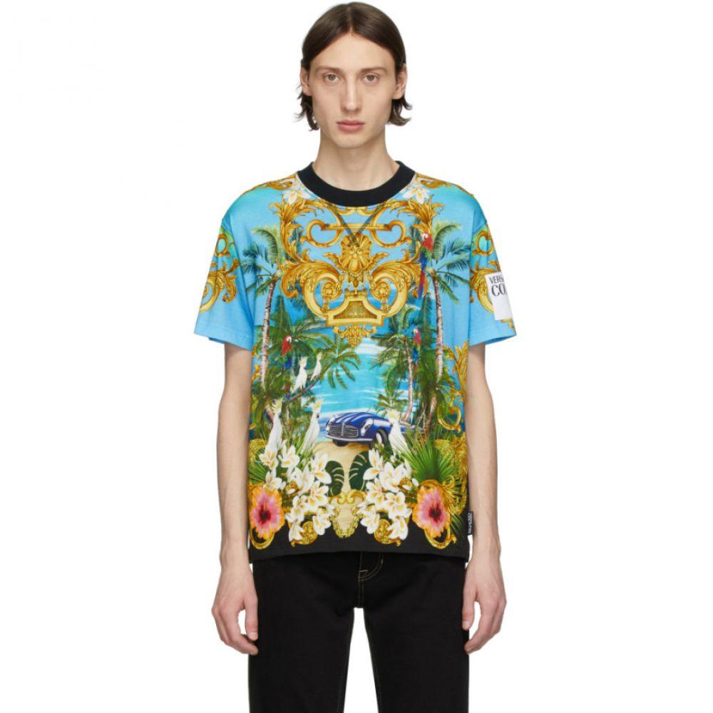 ヴェルサーチ Versace Jeans Couture メンズ Tシャツ トップス【Multicolor Barocco Jungle T-Shirt】Multicolor