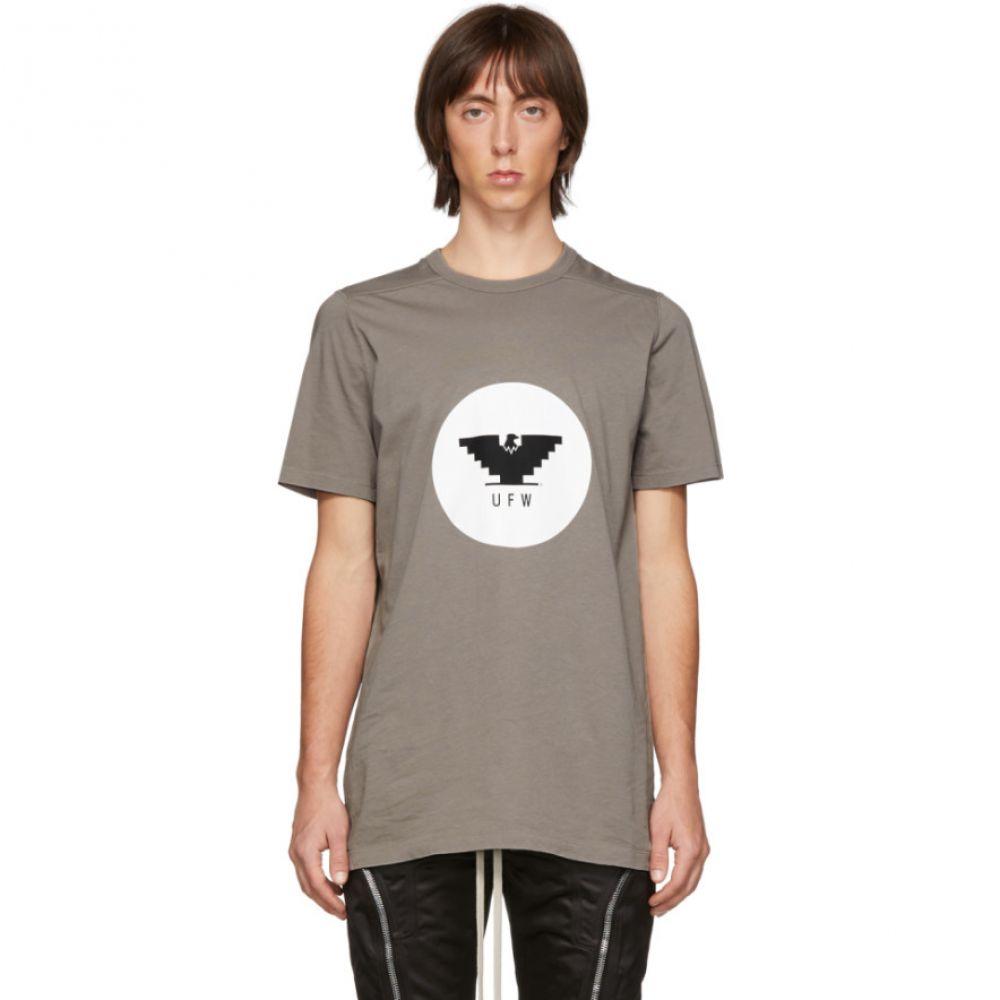リック オウエンス Rick Owens メンズ Tシャツ トップス【Grey Level T-Shirt】Dust