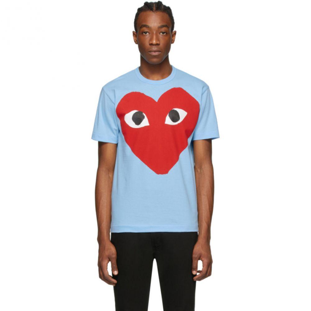 コム デ ギャルソン Comme des Garcons Play メンズ Tシャツ トップス【Blue Big Heart T-Shirt】Blue