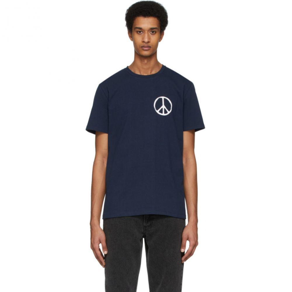アーペーセー A.P.C. メンズ Tシャツ トップス【Navy RTH Edition Peace T-Shirt】Dark navy
