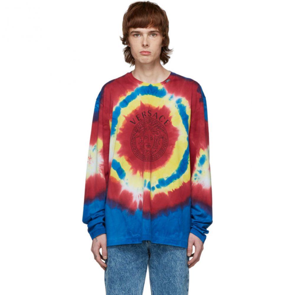 ヴェルサーチ Versace メンズ Tシャツ メデューサ トップス【Multicolor Tie-Dye Medusa T-Shirt】Multi