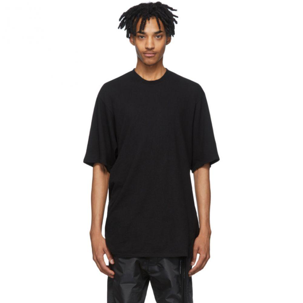 ユリウス Julius メンズ Tシャツ トップス【Black Crepe Noil T-Shirt】Black