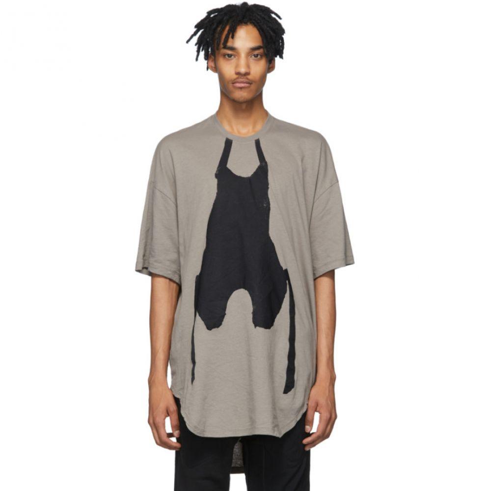 ユリウス Julius メンズ Tシャツ トップス【Grey Graphic T-Shirt】Khaki gray