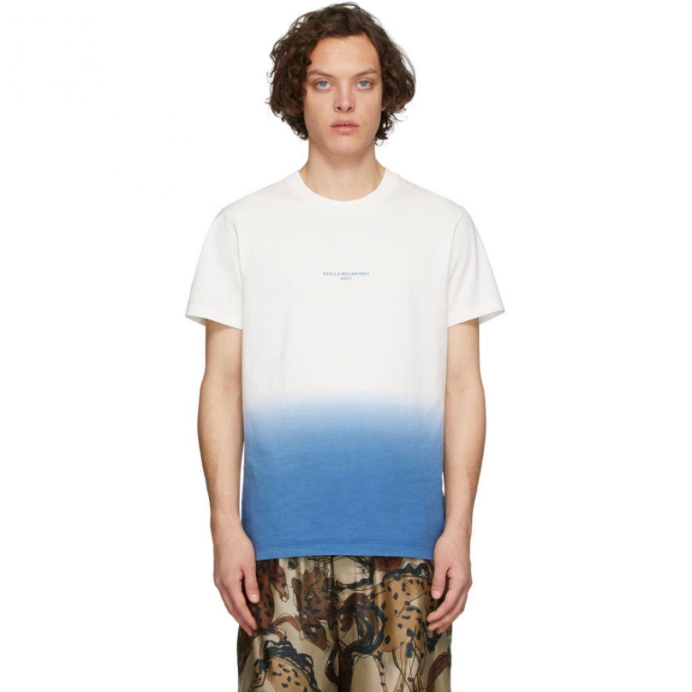 ステラ マッカートニー Stella McCartney メンズ Tシャツ トップス【White & Blue Tie-Dye T-Shirt】White/Blue