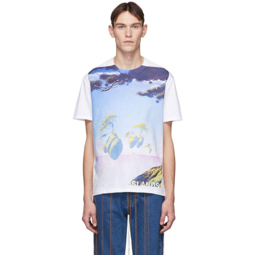 ヴァレンティノ Valentino メンズ Tシャツ トップス【White 'Floating Islands' T-Shirt】Bianco