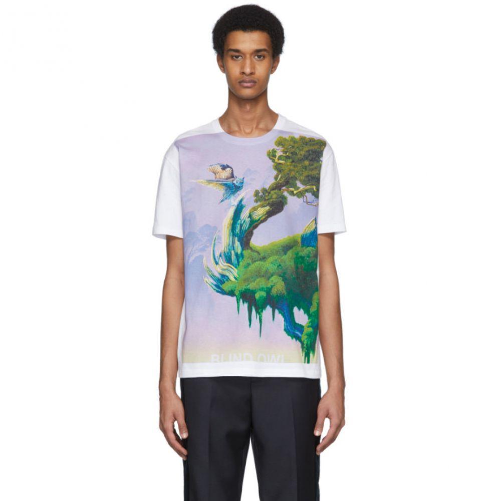 ヴァレンティノ Valentino メンズ Tシャツ トップス【White 'Blind Owl' T-Shirt】Bianco