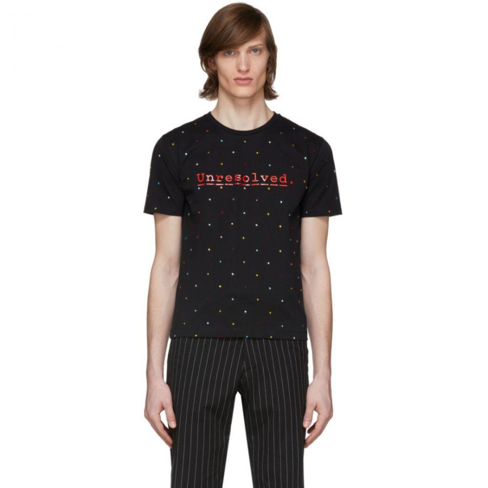 パコラバンヌ Paco Rabanne メンズ Tシャツ トップス【Black Peter Saville Edition 'Unresolved' T-Shirt】Black