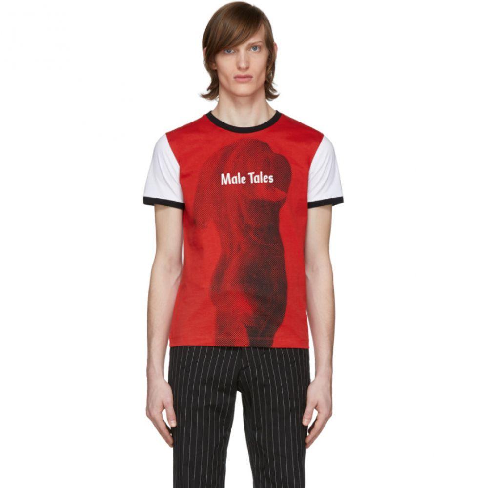 パコラバンヌ Paco Rabanne メンズ Tシャツ トップス【Red & White Peter Saville Edition 'Male Tales' T-Shirt】Red/White