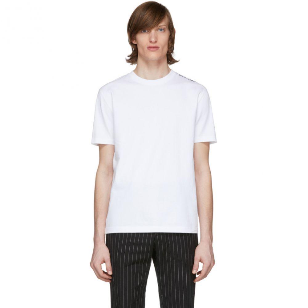 パコラバンヌ Paco Rabanne メンズ Tシャツ トップス【White Logo T-Shirt】White
