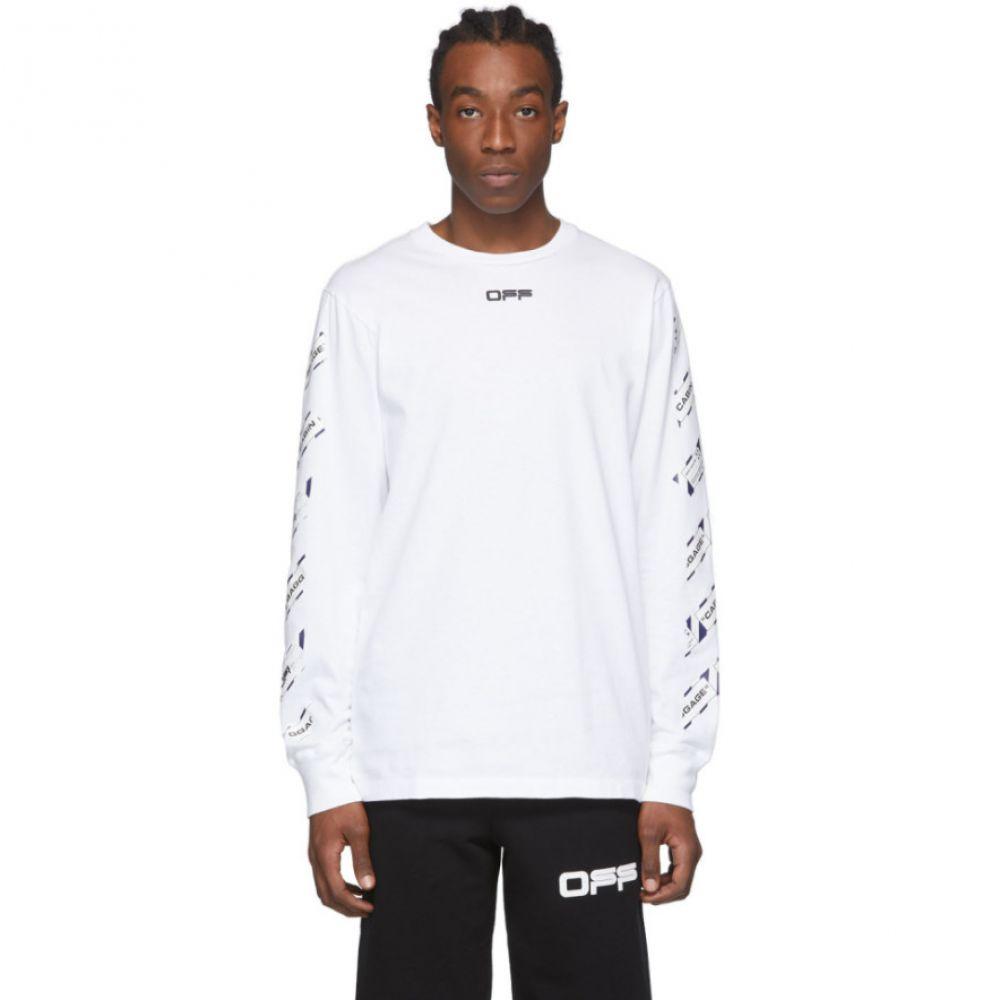 オフホワイト Off-White メンズ 長袖Tシャツ トップス【White Airport Tape Long Sleeve T-Shirt】White/Multicolor