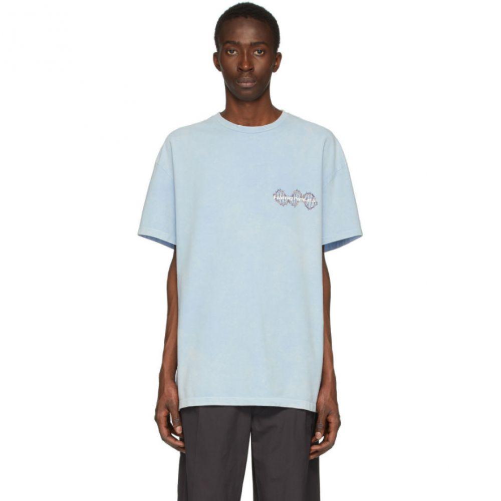 フィリング ピース Filling Pieces メンズ Tシャツ トップス【Blue & Beige Logo DNA T-Shirt】Blue bell