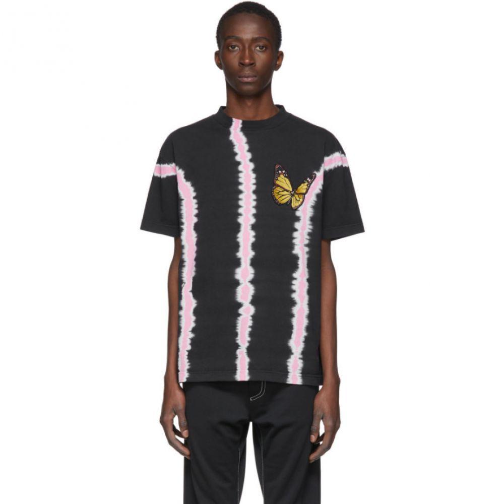 パーム エンジェルス Palm Angels メンズ Tシャツ トップス【Black Tie-Dye Butterfly T-Shirt】Black/Multicolor