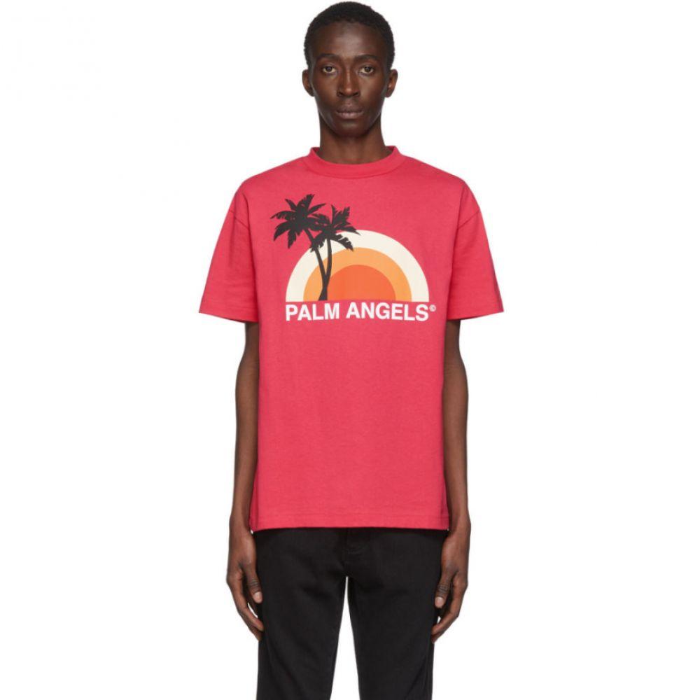 パーム エンジェルス Palm Angels メンズ Tシャツ トップス【Pink Sunset T-Shirt】Fuchsia/Multicolor