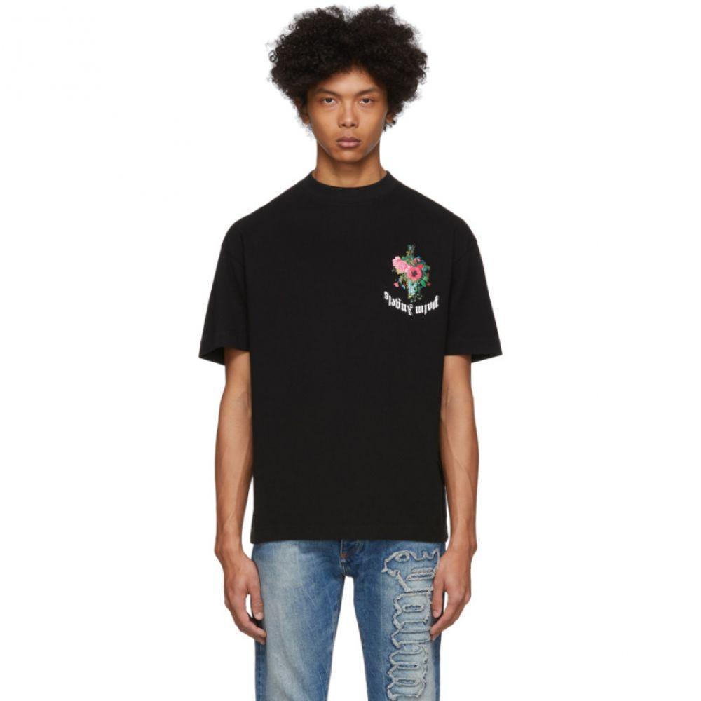 パーム エンジェルス Palm Angels メンズ Tシャツ トップス【Black Flowers T-Shirt】Black