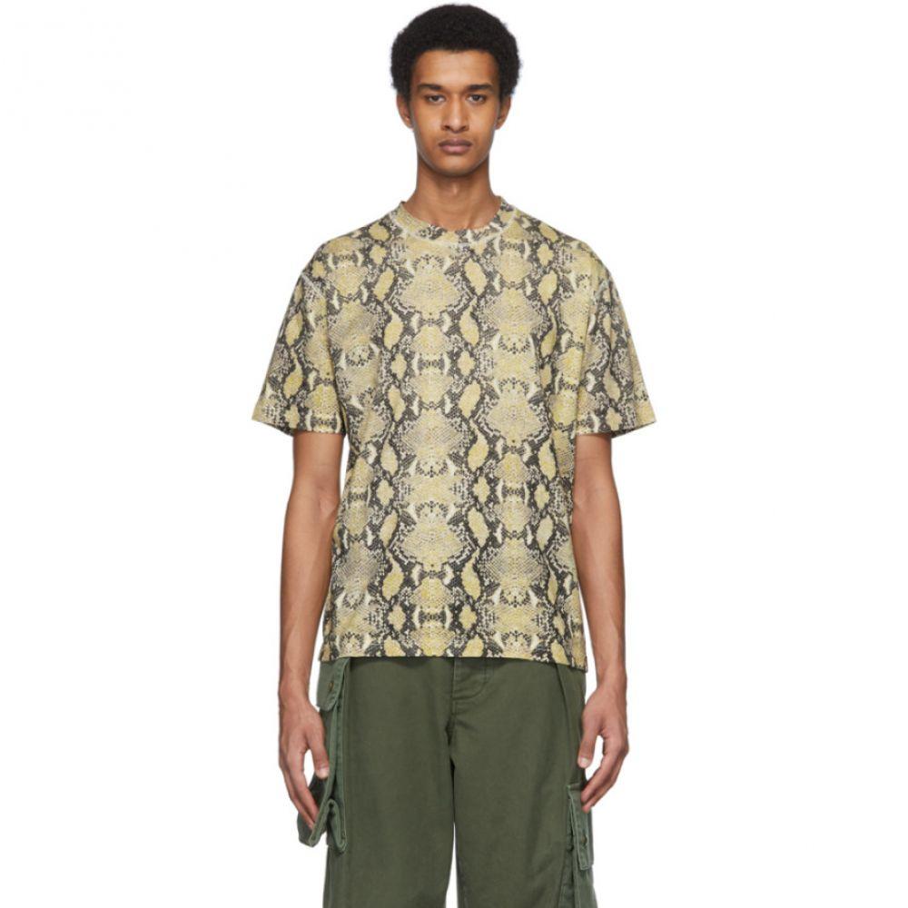 コモン スウェーデン CMMN SWDN メンズ Tシャツ トップス【Beige & Black Snake Ridley T-Shirt】Snake print