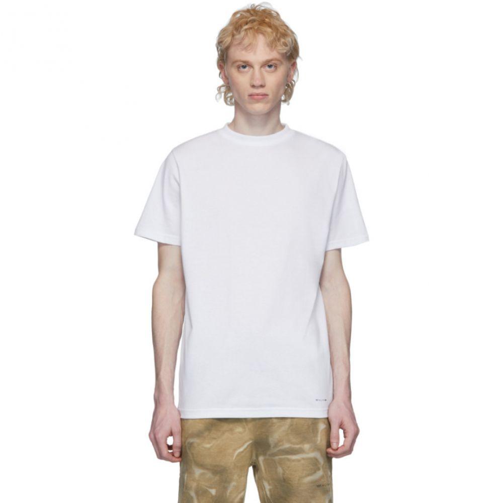アリクス 1017 ALYX 9SM メンズ Tシャツ トップス【Three-Pack White Logo T-Shirt】White