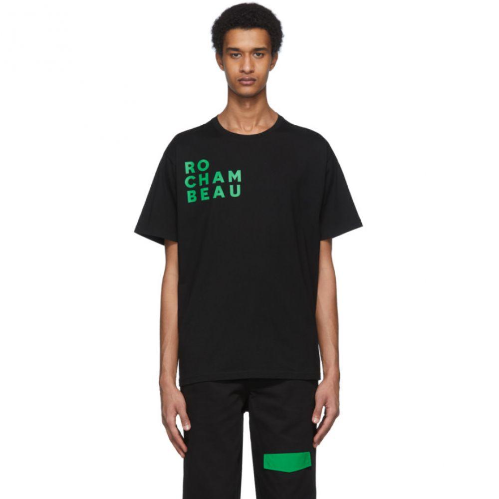 ロシャンボー Rochambeau メンズ Tシャツ トップス【Black Core Logo T-Shirt】Black