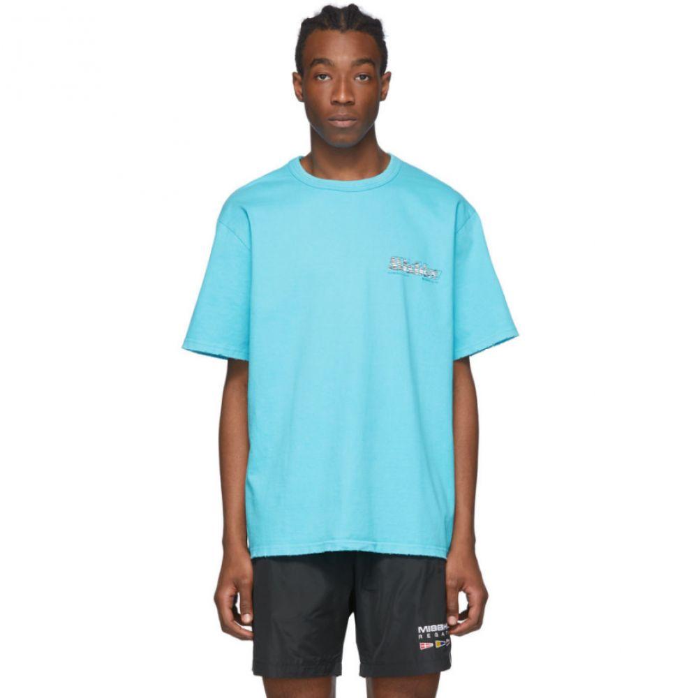ミスビヘイブ MISBHV メンズ Tシャツ トップス【Blue 'The MBH Hotel & Spa' T-Shirt】Turquoise