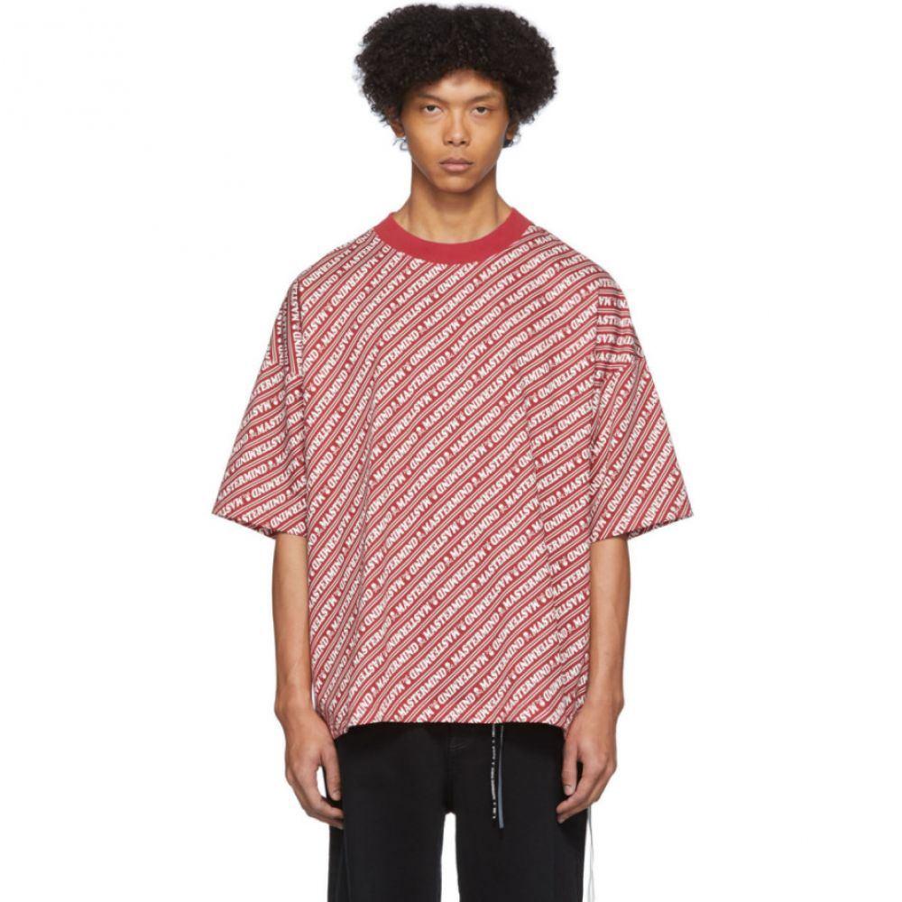 マスターマインド mastermind WORLD メンズ Tシャツ トップス【Red Diagonal Logo T-Shirt】Red