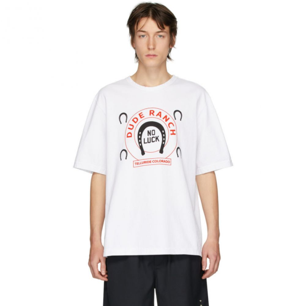 リンダー Linder メンズ Tシャツ トップス【White 'Dude Ranch' T-Shirt】White