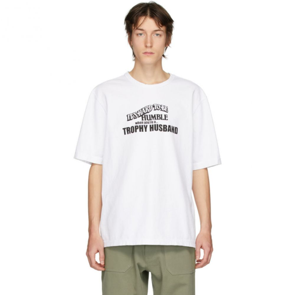リンダー Linder メンズ Tシャツ トップス【White 'Hard To Be Humble' T-Shirt】White