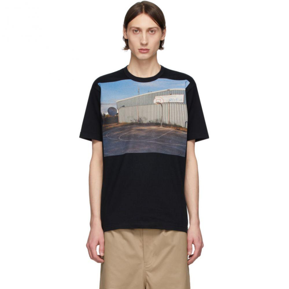 コム デ ギャルソン Comme des Garcons Homme メンズ Tシャツ トップス【Black Graphic Print T-Shirt】Black