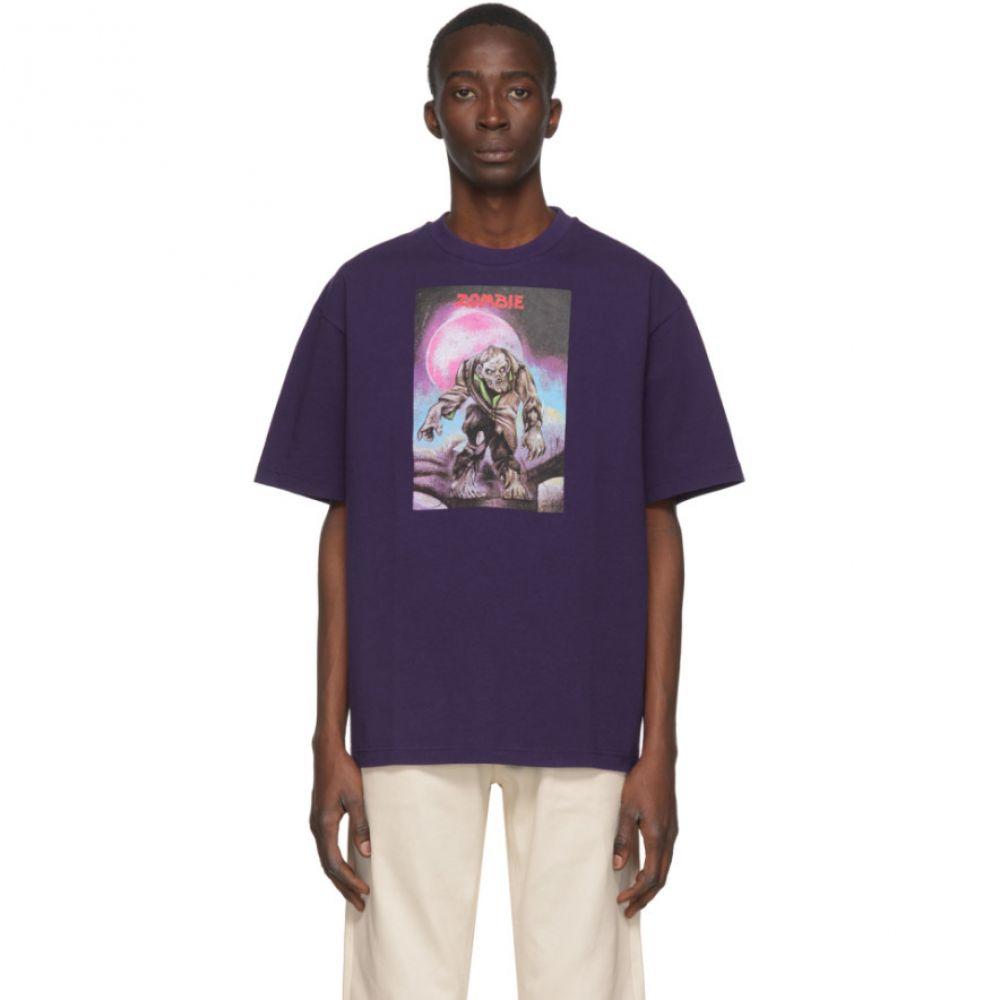 アクネ ストゥディオズ Acne Studios メンズ Tシャツ ポケット トップス【Purple Monster in My Pocket Edition 'Zombie' T-Shirt】Purple
