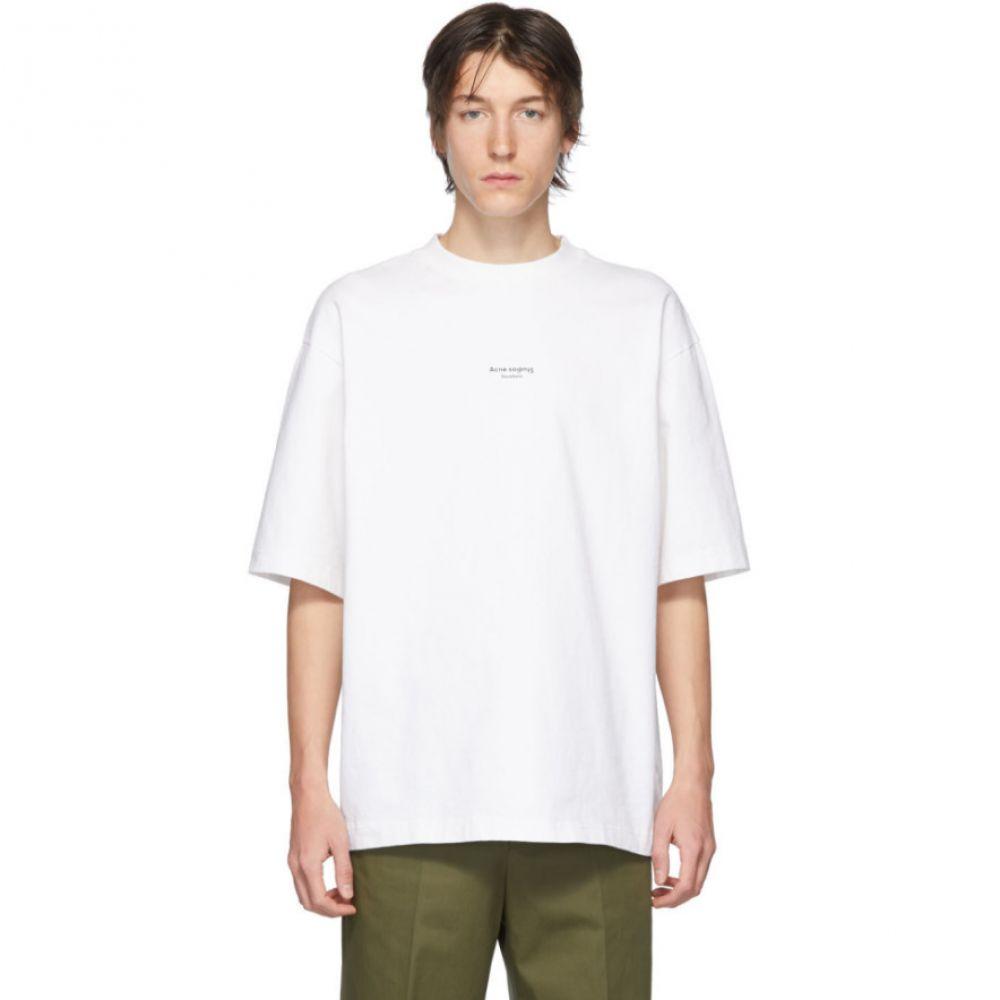 アクネ ストゥディオズ Acne Studios メンズ Tシャツ トップス【White Extorr T-Shirt】Optic white
