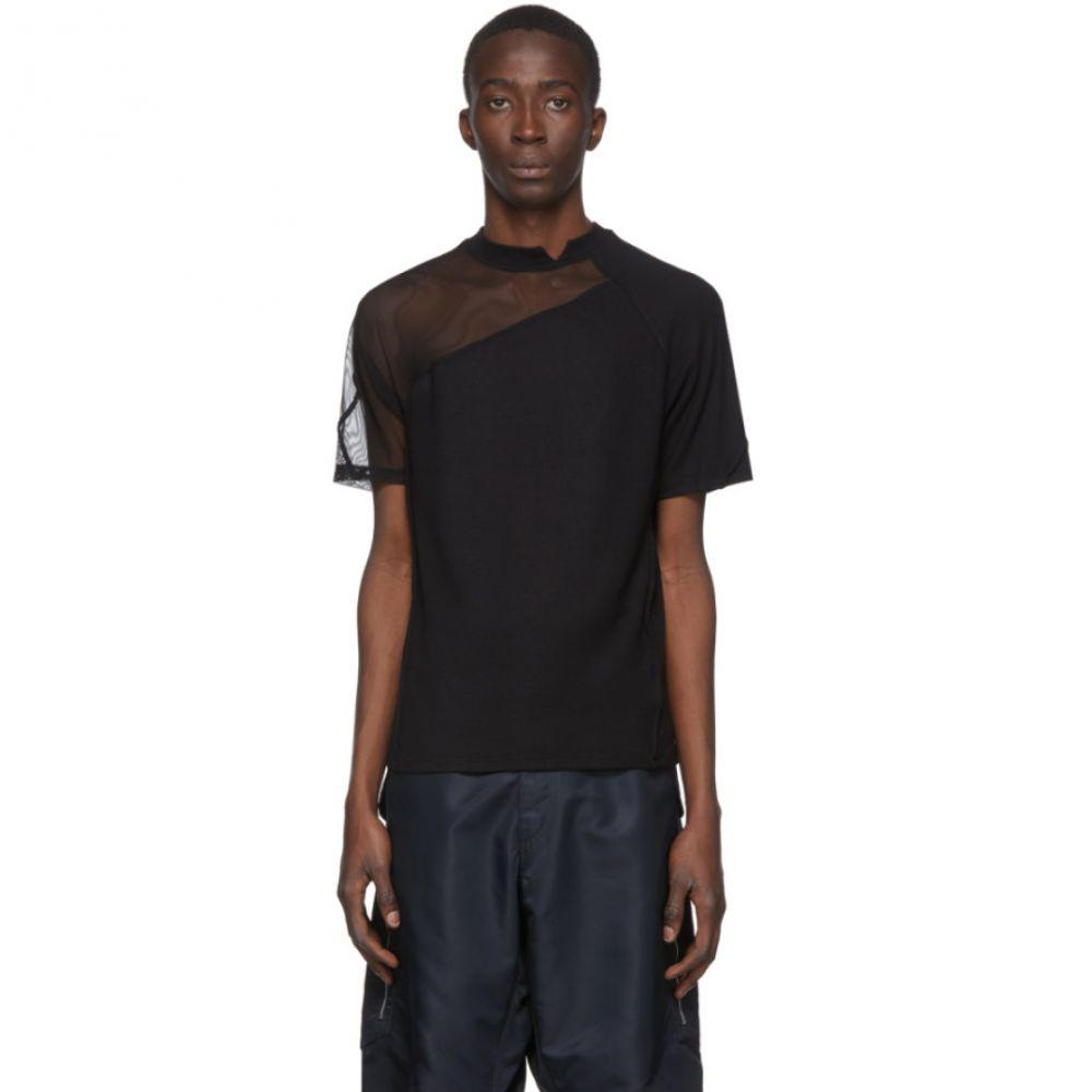 スペンサー バドゥ Spencer Badu メンズ Tシャツ トップス【Black Tulle T-Shirt】Black