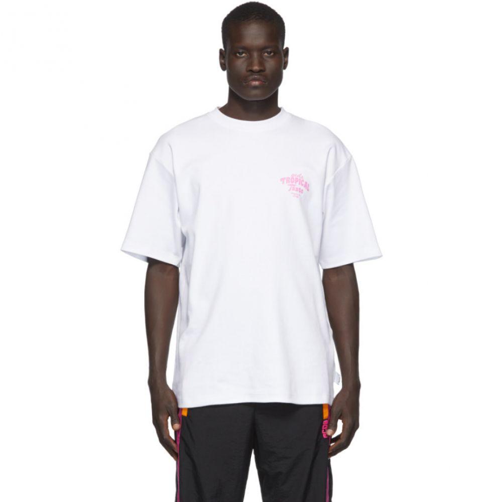 ジーシーディーエス GCDS メンズ Tシャツ トップス【White 'Tropical Taste' T-Shirt】White