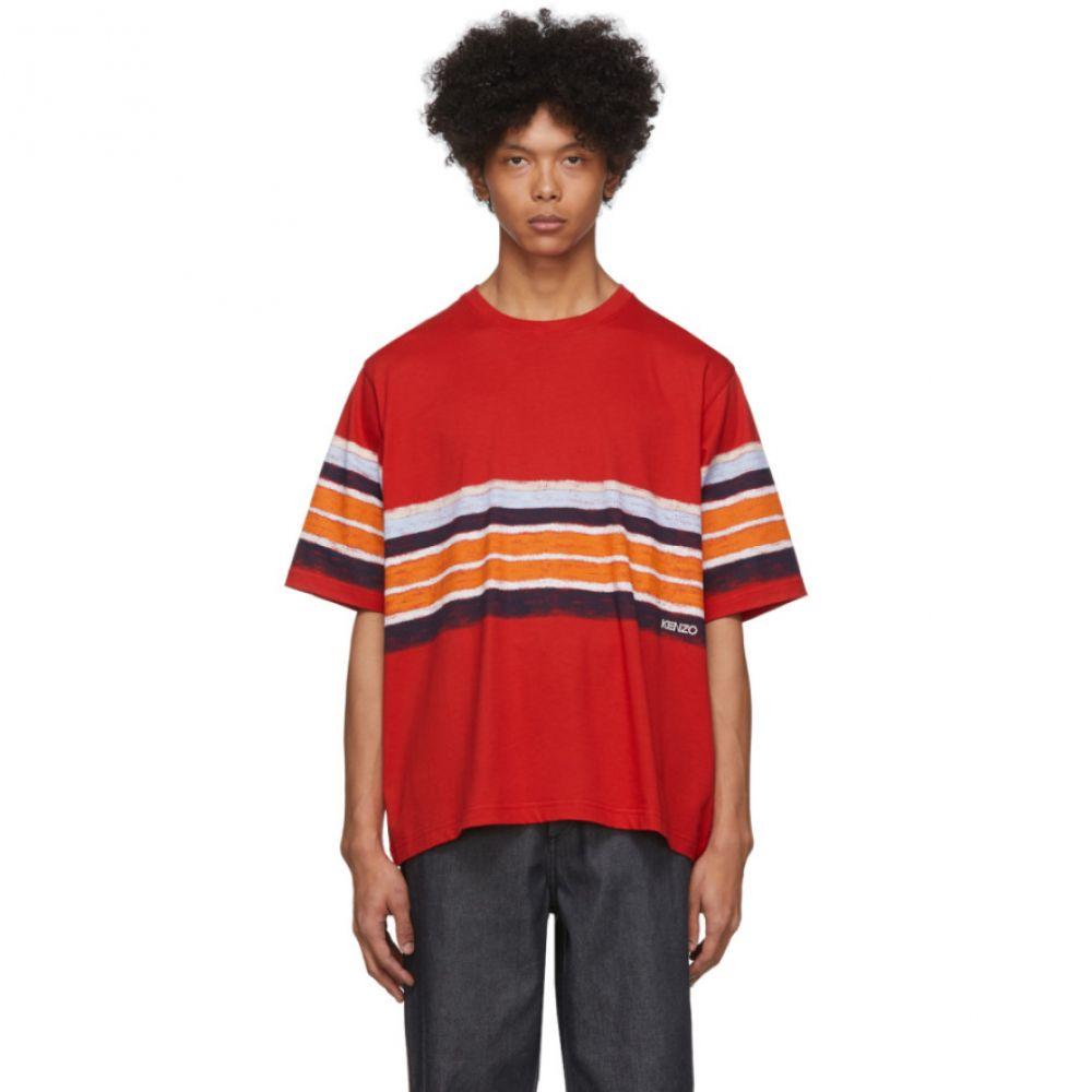 ケンゾー Kenzo メンズ Tシャツ トップス【Red Striped T-Shirt】Red