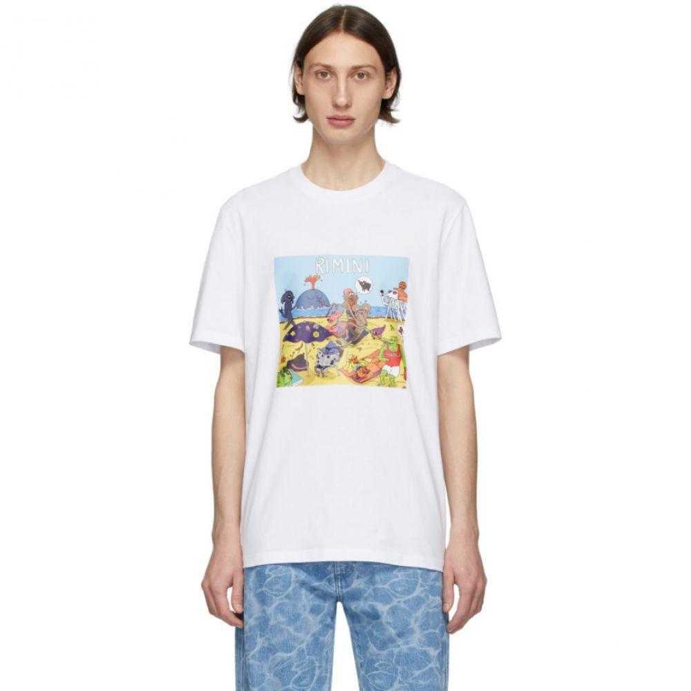 エムエスジーエム MSGM メンズ Tシャツ トップス【White Rimini T-Shirt】White
