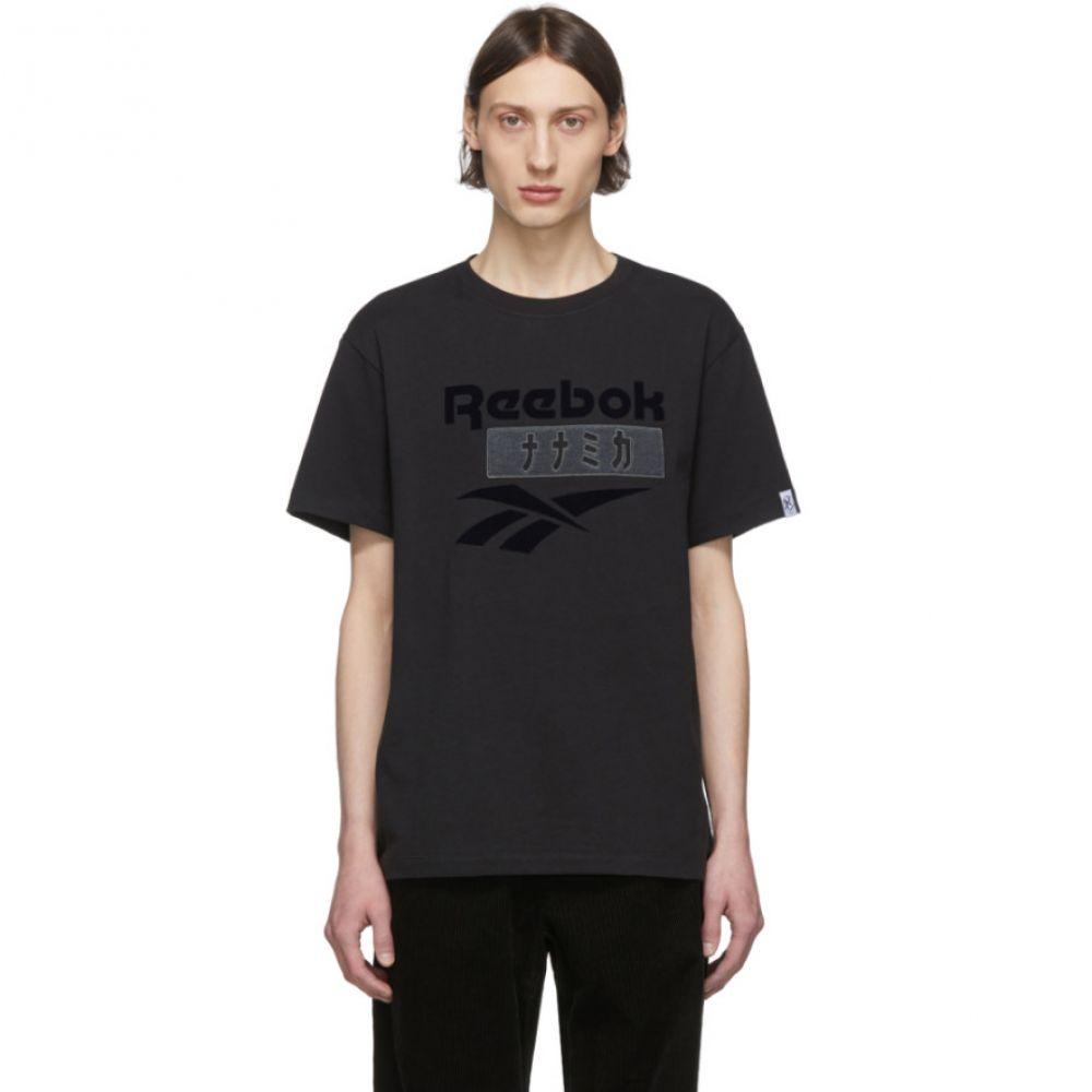 ナナミカ Nanamica メンズ Tシャツ トップス【Black Reebok Edition Vector T-Shirt】Black